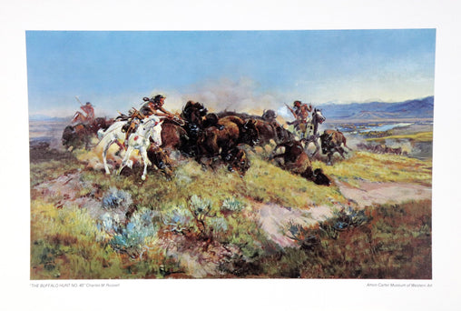 """The Buffalo Hunt No. 40"" Fine Art by Artist Charles M. Russell"
