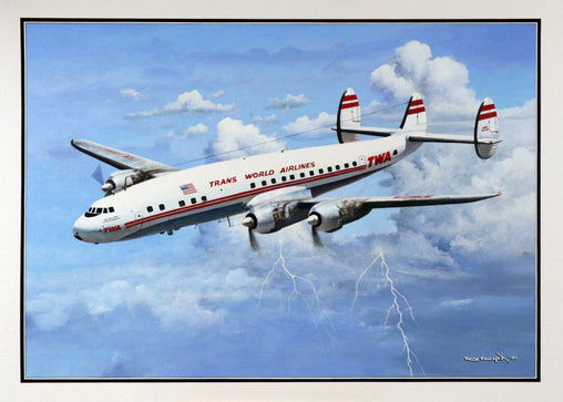 """TWA Super Constellation"" Original Oil by Artist Tony Fachet"