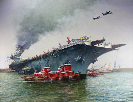 """USS Independence"" Original Oil by Artist Tony Fachet"