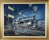 """Locomotive Factory"" Original Oil by Artist Tony Fachet - Aces In Action"