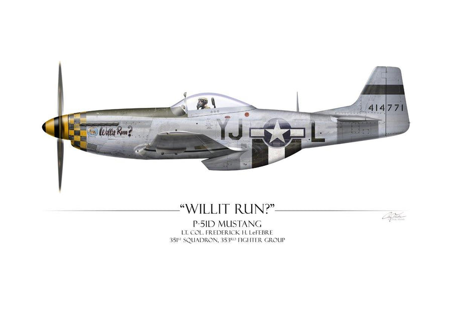 Willit Run? P-51 Mustang - Art Print by Craig Tinder - Aces In Action