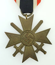 "WW2 German War Merit Cross 2nd Class with Swords 1939 Early Issue with Ribbon - Maker Mark: Richard Simm & Sohne ""93"" - Aces In Action"