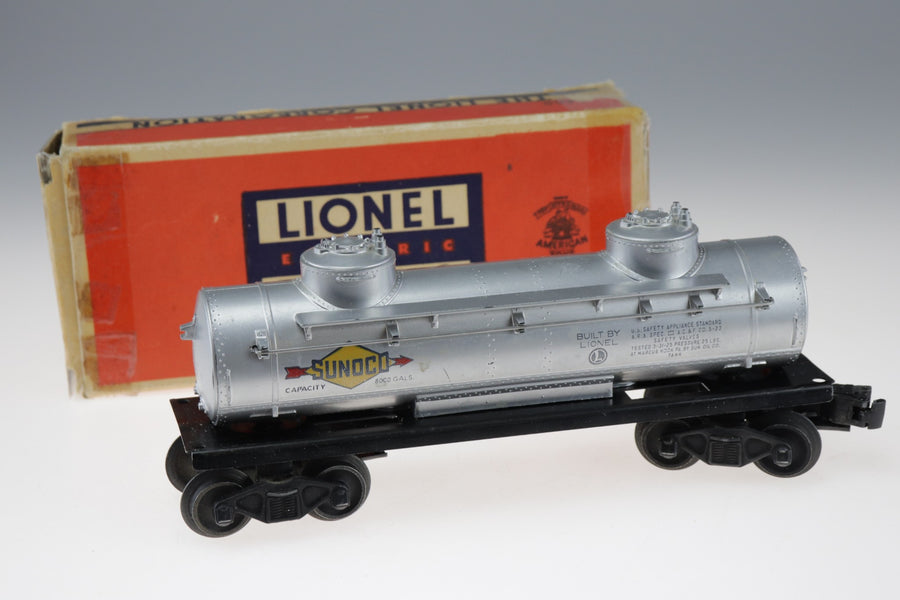 Lionel Electric Train Sunoco Double Dome Oil Gas Tank Car 6465 In Box - Aces In Action