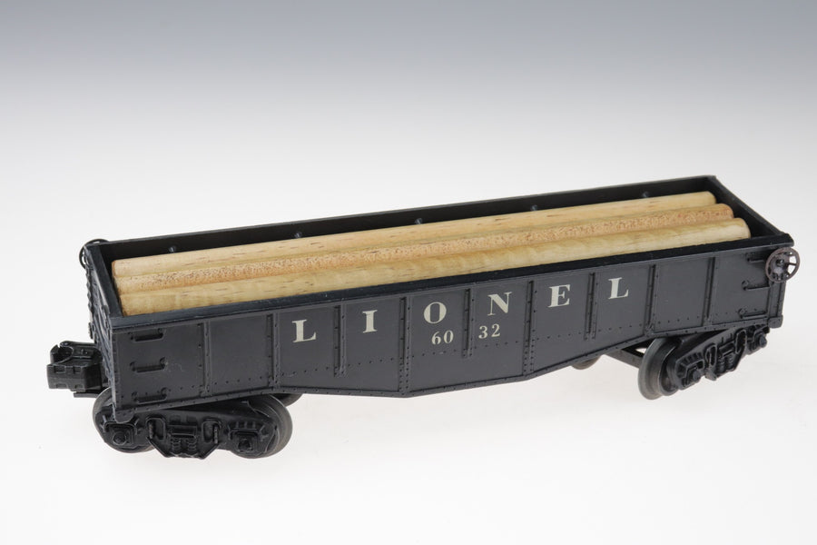 Lionel Gondola With Wood Logs Load Car No. 6032 O-Gauge - Aces In Action