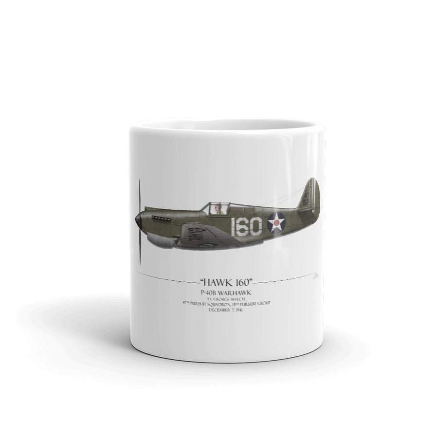 Pearl Harbor P-40 Warhawk Coffee Mug by Artist Craig Tinder - Aces In Action