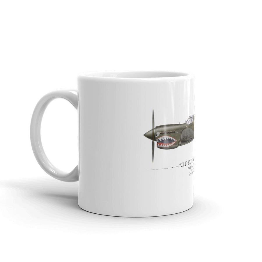 Old Exterminator P-40 Warhawk Coffee Mug by Artist Craig Tinder - Aces In Action
