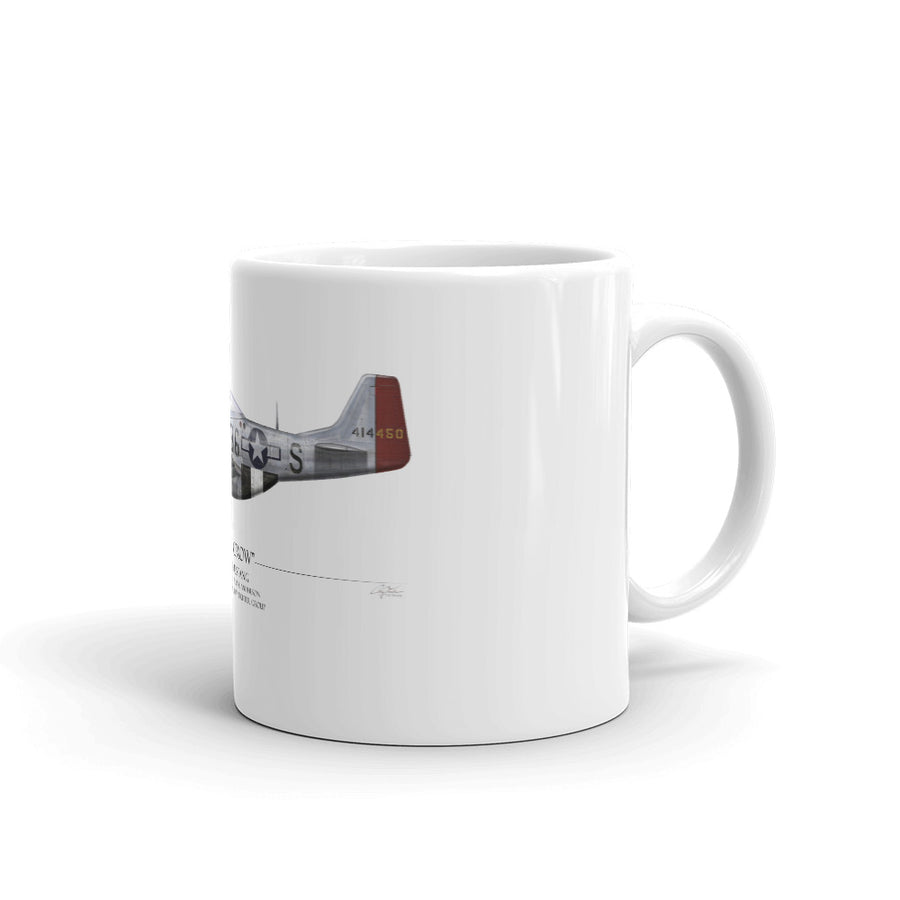 Old Crow P-51 Mustang Coffee Mug by Artist Craig Tinder - Aces In Action