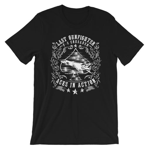 """The Last Gunfighter"" F-8 Crusader Short-Sleeve Unisex T-Shirt"