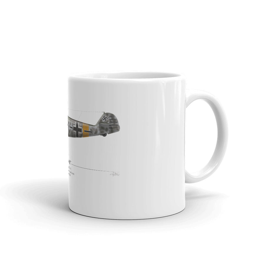 Werner Molders Bf-109 Coffee Mug by Artist Craig Tinder - Aces In Action