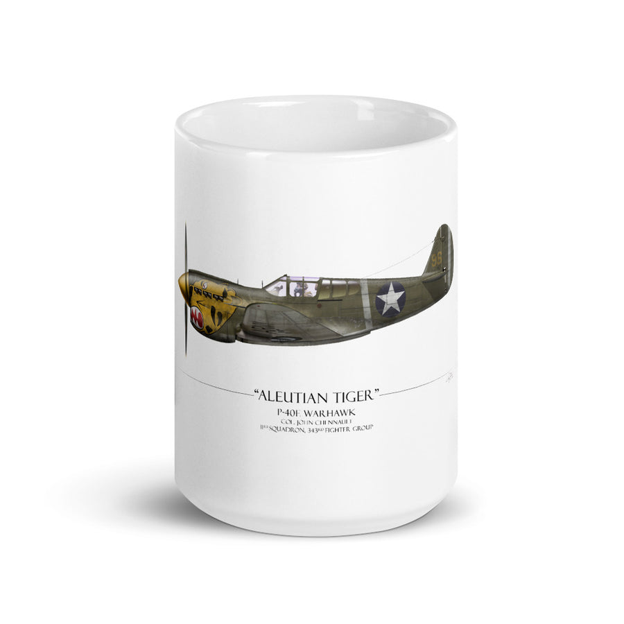Aleutian Tiger P-40 Warhawk Coffee Mug by Artist Craig Tinder - Aces In Action