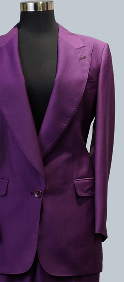Violet Wool Mohair Jacket