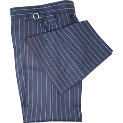 Navy All-Season Pinstripe Trouser