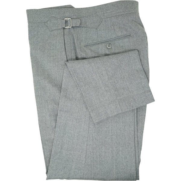 Heather Grey Flannel Trouser