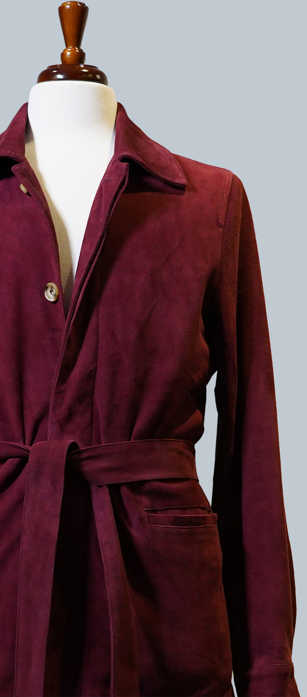 Merlot Suede Safari Jacket