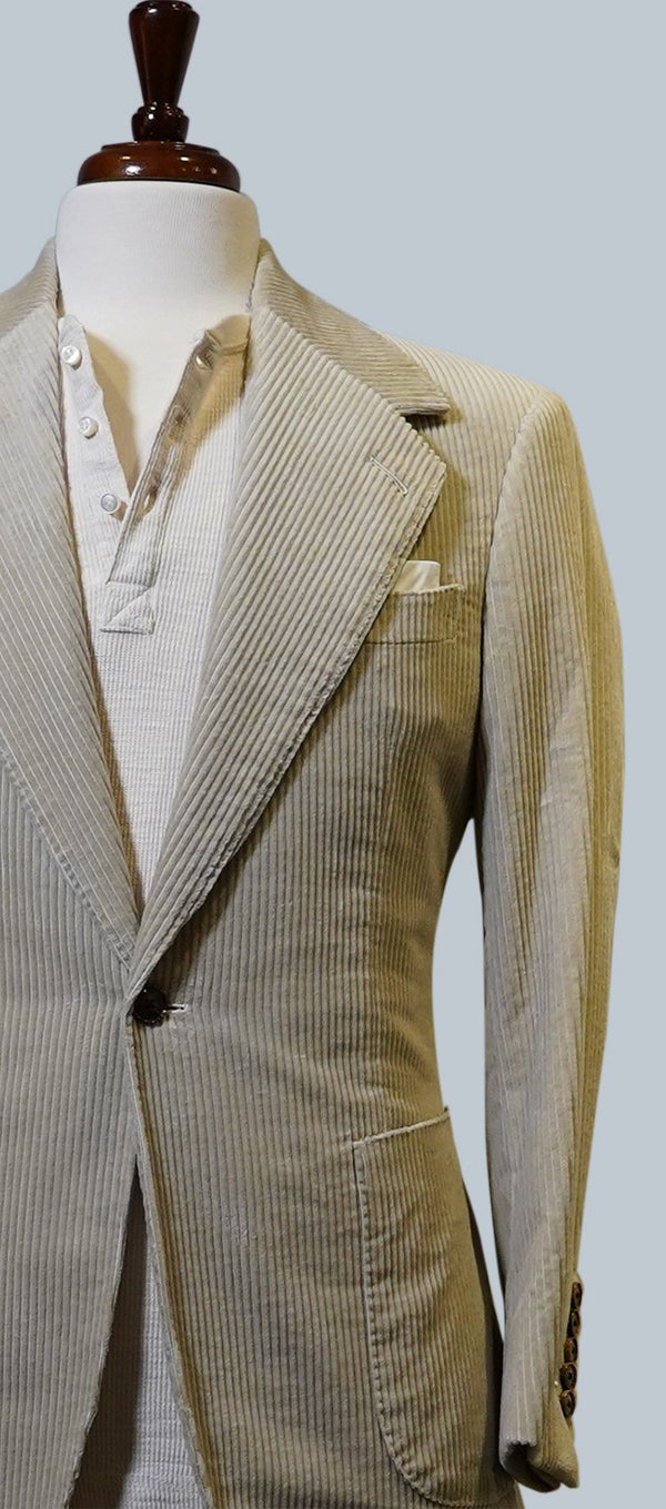 Cream Corduroy Suit