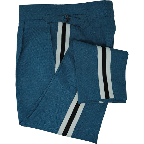Aqua Mesh Striped Trousers