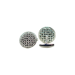 Basket weave with Black Jade Cufflinks