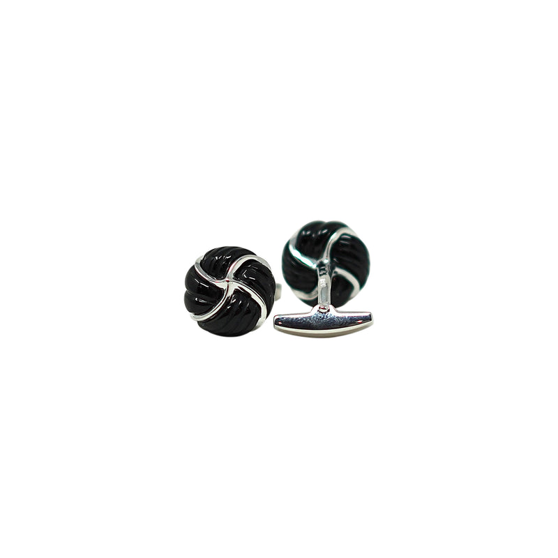 Black Jade  knob cufflinks