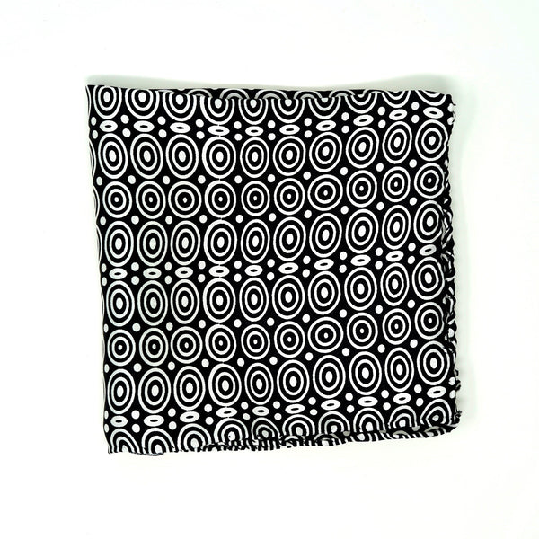 Deco Black & White Pocket Square