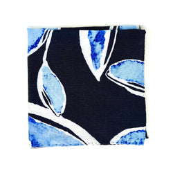 Botanical Blue Pocket Square