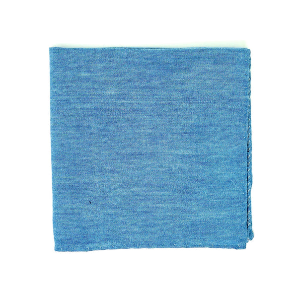 Blue Chambray Pocket Square