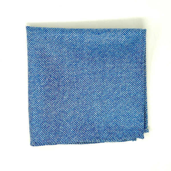 Light Blue Nailhead Pocket Square