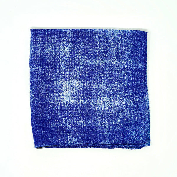 Denim Wash Pocket Square