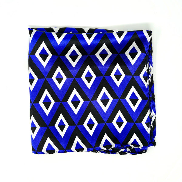 Blue Diamond Deco Pocket Square