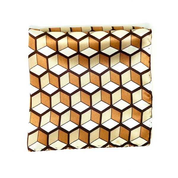 Golden Geometry Pocket Square