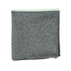 Grey Nailhead Pocket Square
