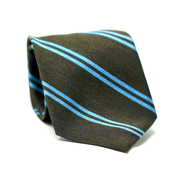 Brown & Blue Stripe Tie