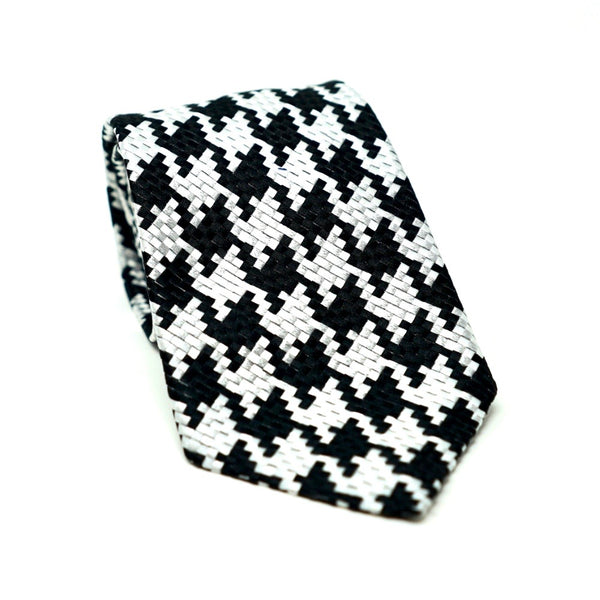 Black & White Large Houndstooth Tie