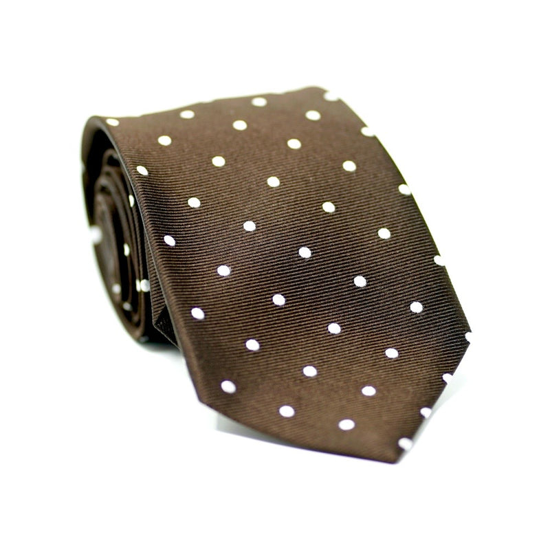 Brown Polka Dot Tie