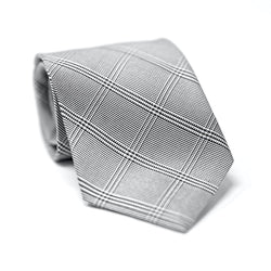 Black & Grey Glenplaid Tie