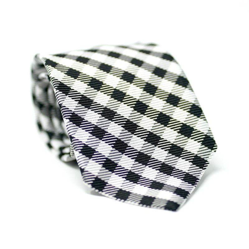 Black & White Plaid Tie