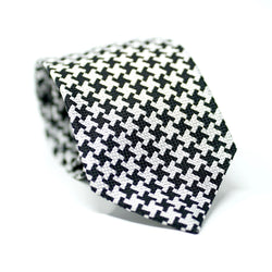 Black & White Houndstooth Tie