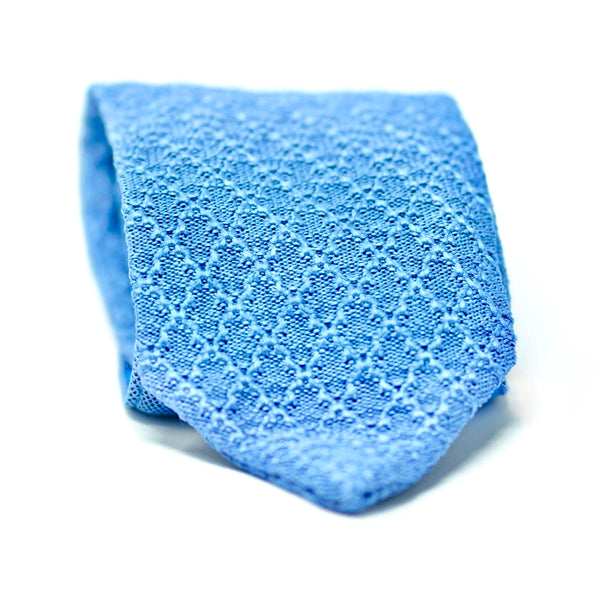 Light Blue Knit Tie
