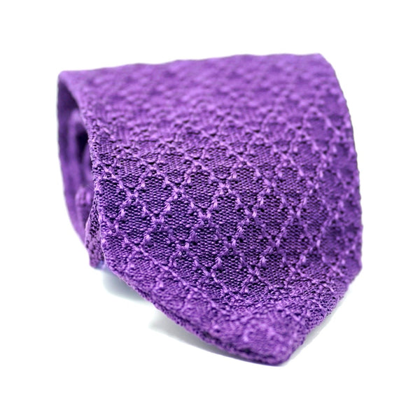 Purple Knit Tie