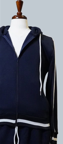 Navy Cotton Fleece Sweatsuit