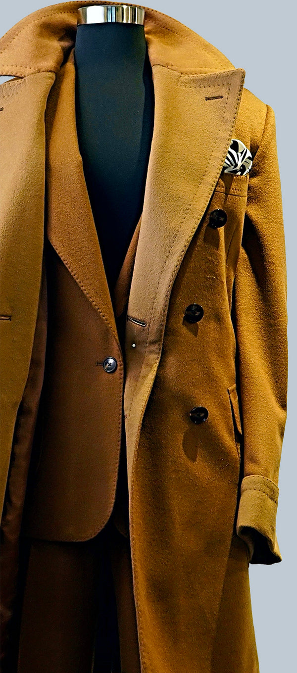 Camel Wool and Cashmere Overcoat