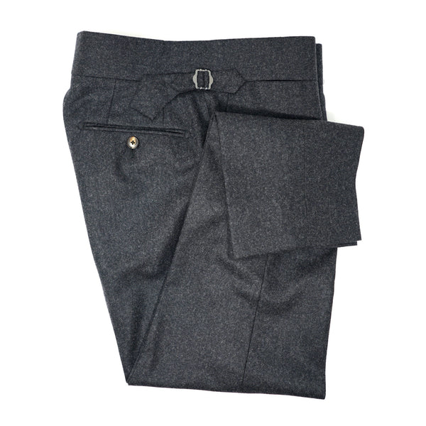 Charcoal Grey Flannel Trousers