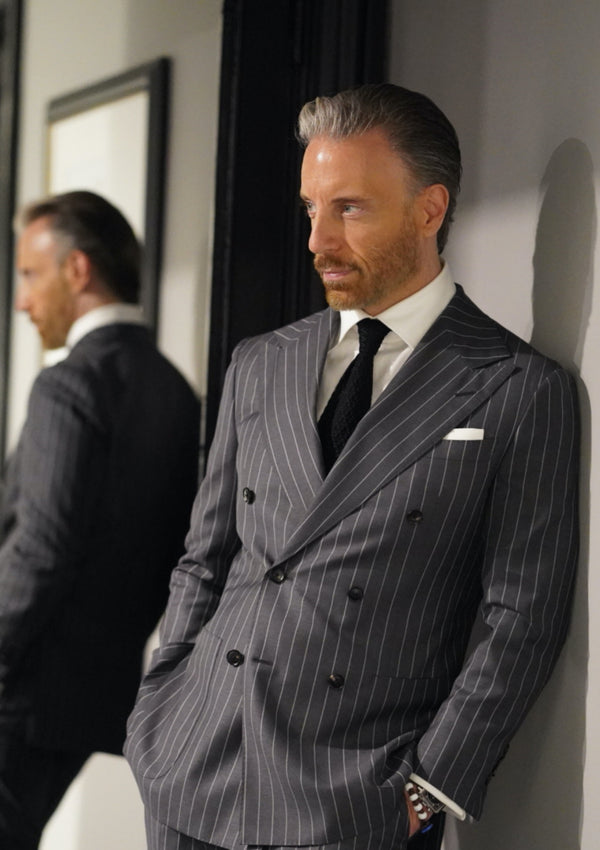 Charcoal Grey Pinstripe Suit