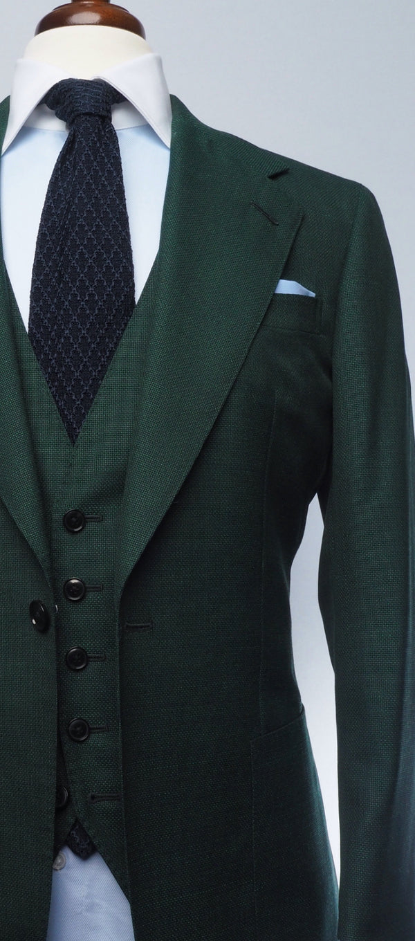 Forest Green Mesh Suit