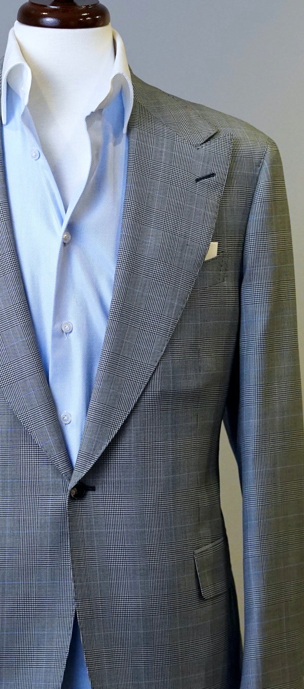 Grey Glenplaid Pale Blue Jacket