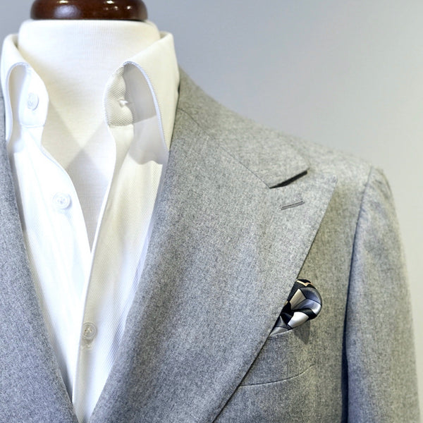 Grey Matter Squared Pocket Square