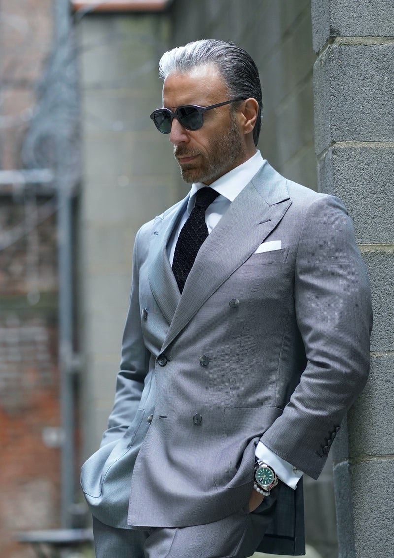 Grey Nailhead Suit