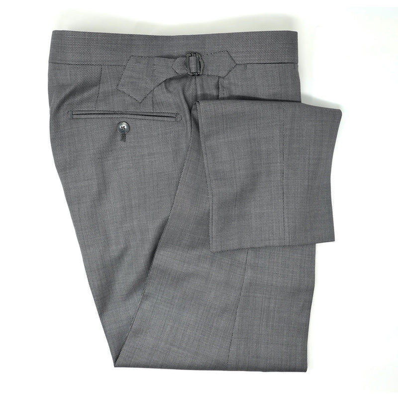 Grey Nailhead Trousers