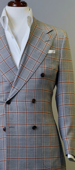Grey Rust Windowpane Jacket