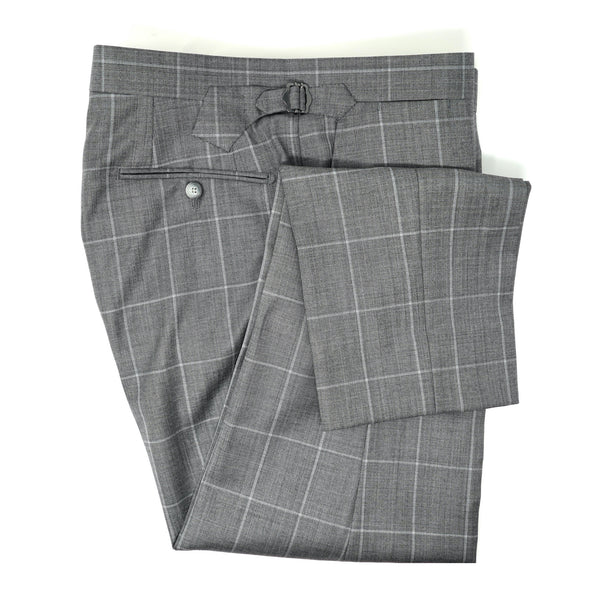 Grey Windowpane Trousers