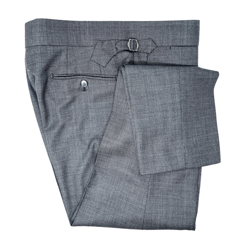 Gunmetal Grey Tick Weave Trousers